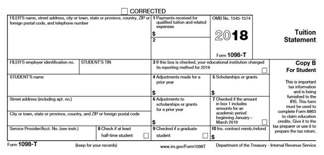 sample IRS form